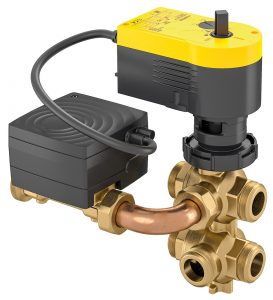 Dynamic flow control system with 6-way ball valve, eValveco